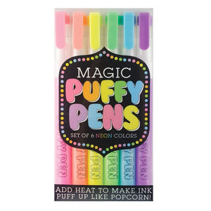 Ooly Magic Puffy Pens, Set of 6