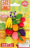 Iwako Fruit Puzzle Eraser Set