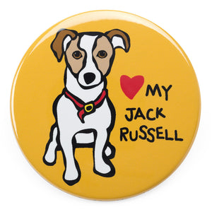 Marc Tetro Love My Jack Russell Magnet  by Marc Tetro