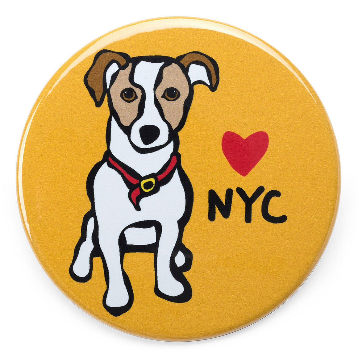 Marc Tetro NYC Jack Russell Magnet  by Marc Tetro