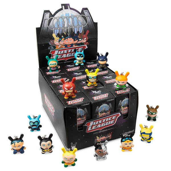 "Kidrobot 3"" Blind Box Dunny Keychain Series : Justice League"