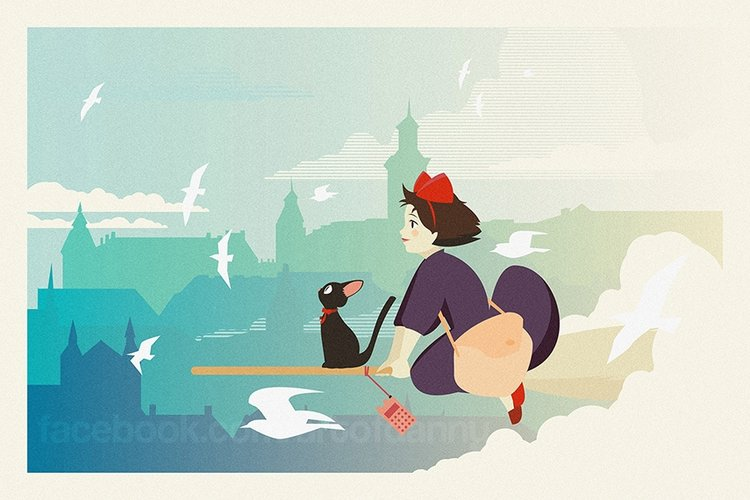 Danny Haas Kiki's Delivery Service Print