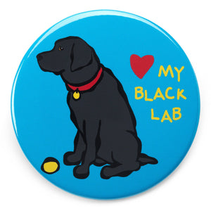 Marc Tetro Love NYC Black Lab Magnet