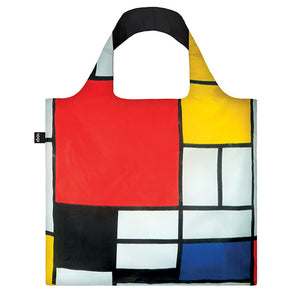 Composition with Red, Yellow, Blue and Black Tote Bag  by LOQI - 1
