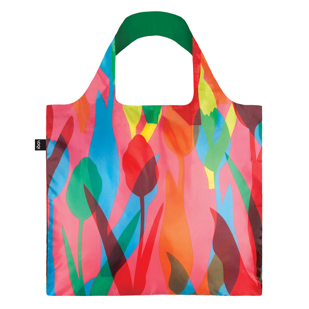 LOQI Travel Tulips Tote Bag Packable