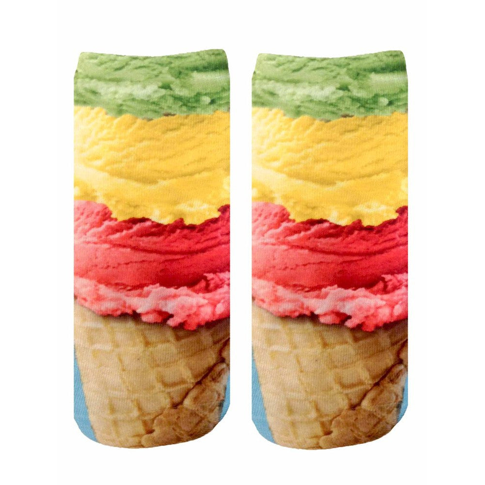 Ice Cream Ankle Socks  by Living Royal