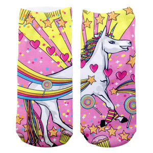 Unicorn Ankle Socks  by Living Royal