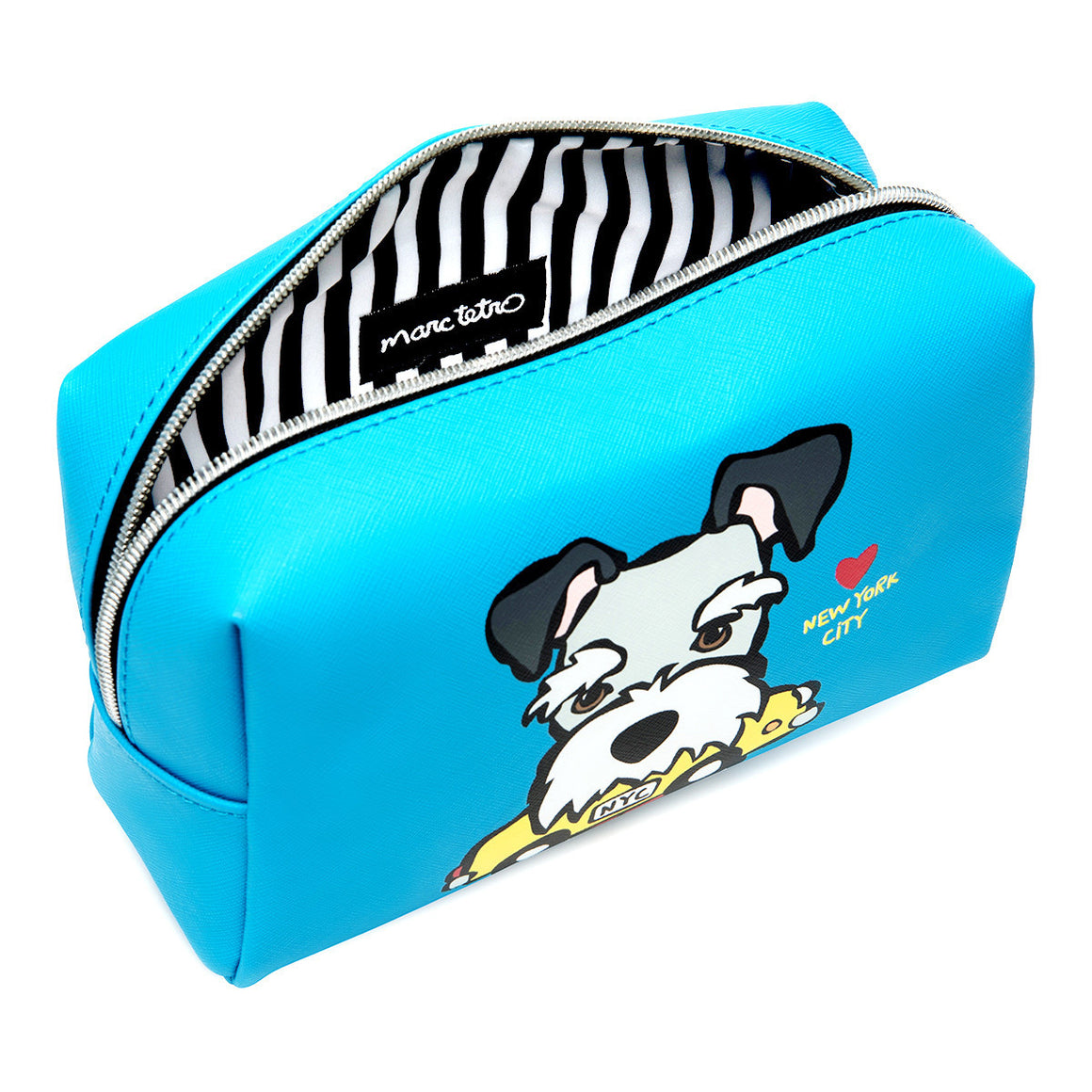 Marc Tetro NYC Schnauzer Large Cosmetic Case