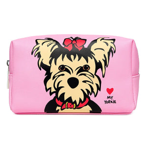 Marc Tetro Yorkie Cosmetic Case Large