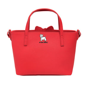 Marc Tetro Westie Red Mini Tote Crossbody Bag