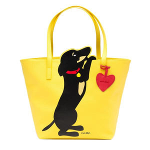 Marc Tetro Dachshund Cutout Tote with Dangle