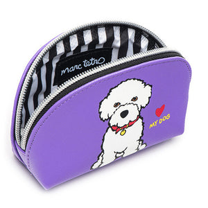 Marc Tetro Bichon Frise Cosmetic Case Mini Front