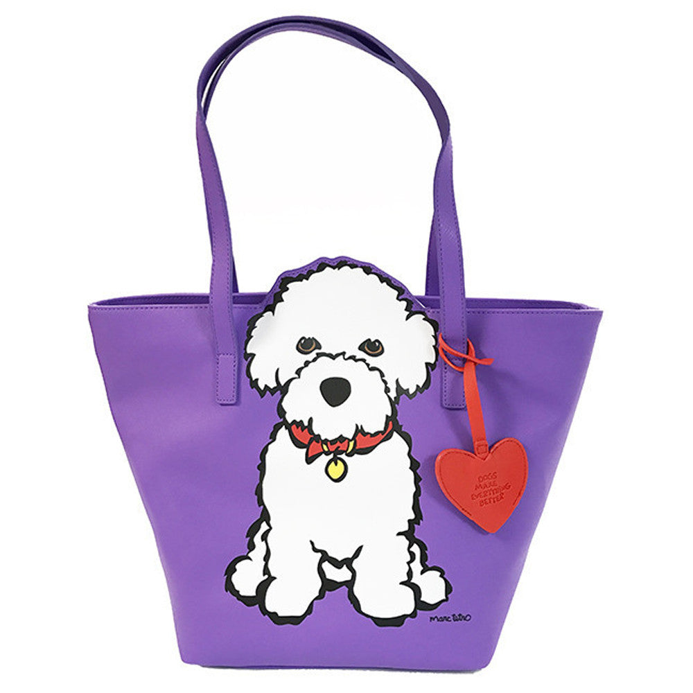 Marc Tetro Bichon Cutout Tote Bag Purple