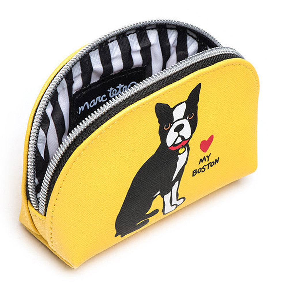 Marc Tetro Boston Terrier Cosmetic Case Mini Front