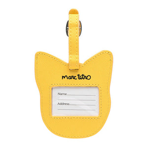 Marc Tetro Boston Terrier Luggage Tag- Yellow