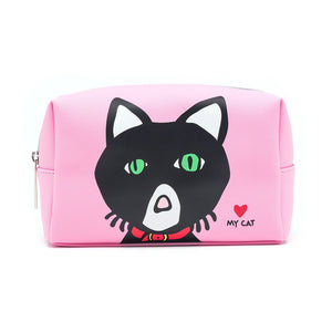 Marc Tetro Cat Cosmetic Case Large