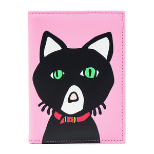 Marc Tetro Cat Passport Cover Pink Front