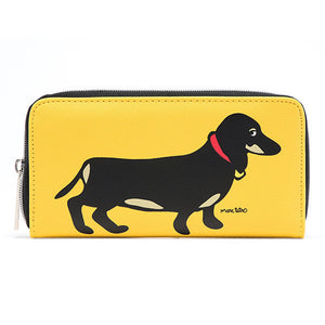 Marc Tetro Dachshund Zipper Wallet Large - PIQ