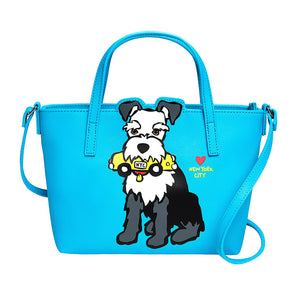 Marc Tetro NYC Blue Schnauzer Crossbody Bag