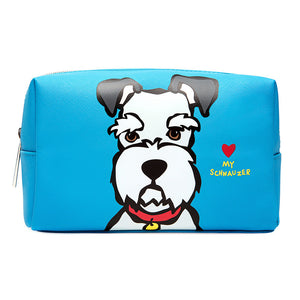 Schnauzer Large Cosmetic Case  by Marc Tetro - 1