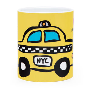 Marc Tetro NYC Taxi Mug Checker Yellow