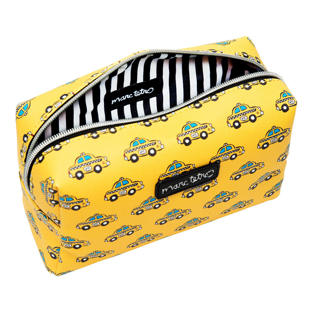 Marc Tetro Taxi Pattern Large Cosmetic Bag