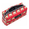 Marc Tetro Pug Pattern Red Cosmetic Case Small