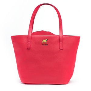 Marc Tetro Pug Cutout Tote Bag with Key Keeper Front