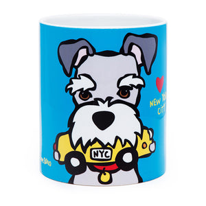 Marc Tetro Schnauzer Mug With Taxi Front