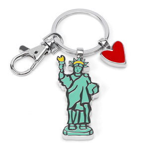Marc Tetro Statue Of Liberty Keyring  by Marc Tetro