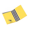 Marc Tetro Boston Terrier Passport Cover Front Yellow