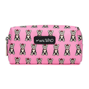 Marc Tetro Yorkie Pattern Small Cosmetic Case