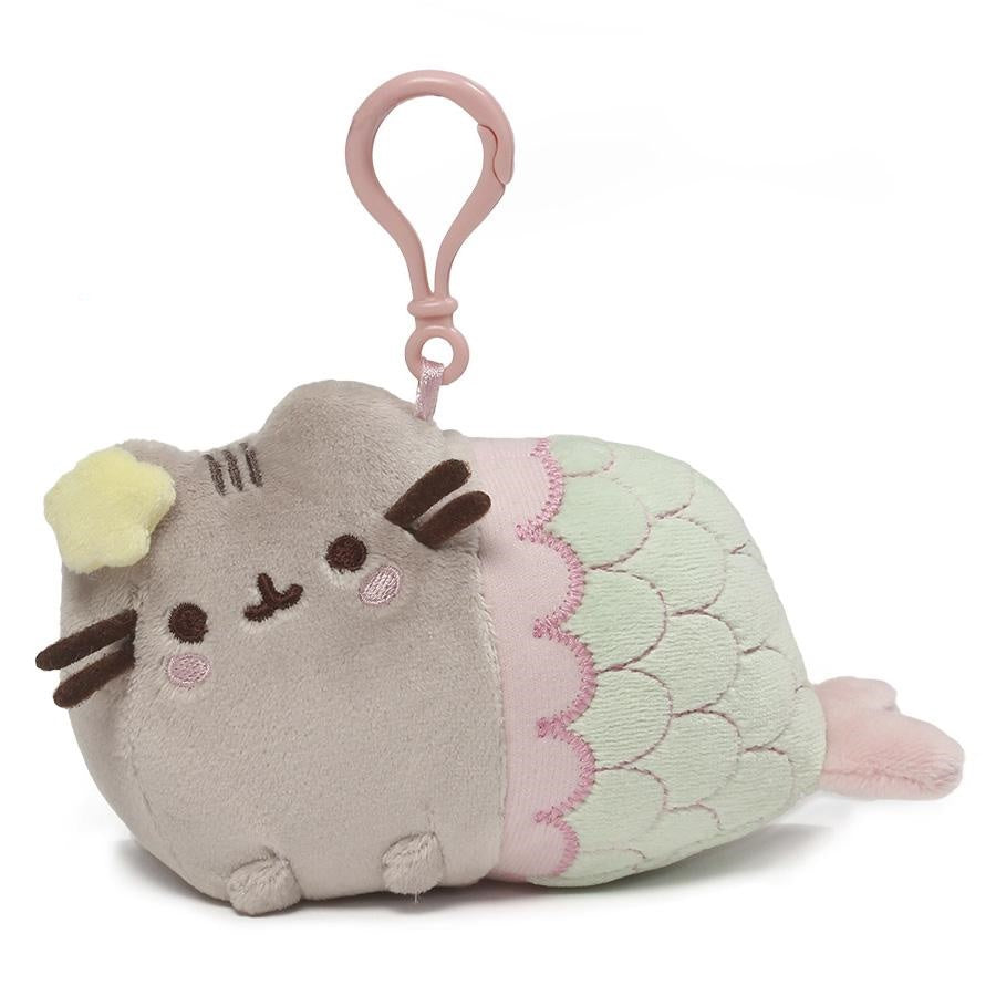 Gund Page 2 Piq Pusheen Holiday Sweater Mermaid Backpack Clip