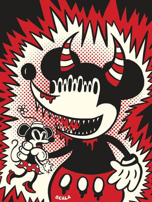 """Mickey Monster"" Unframed Print By Vincent Scala"