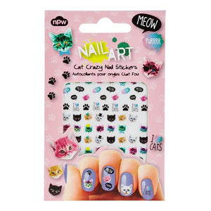 Cat Crazy Nail Art Stickers - PIQ