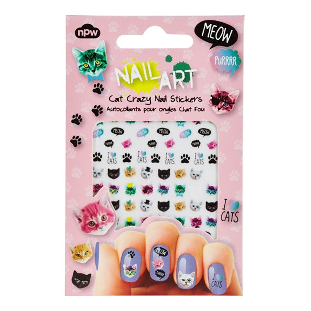Cat Crazy Nail Art Stickers  by NPW