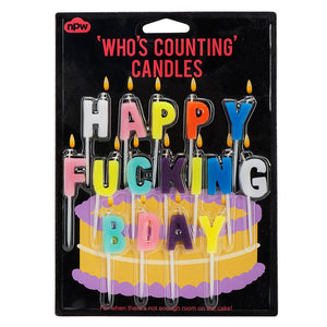 Happy F*cking Birthday Candles  by NPW