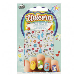 Unicorn Nail Art Stickers w Rainbows, Clouds and Hearts