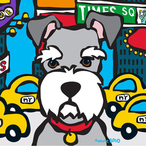 Marc Tetro NYC Schnauzer in Times SQ 8x10 Paper by Marc Tetro