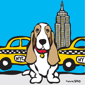 Marc Tetro NYC Basset Hound 8x10 Paper by Marc Tetro