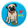 Marc Tetro NYC Pug Magnet  by Marc Tetro