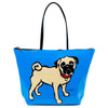 Marc Tetro Pug Tote Bag Blue Front