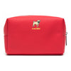Marc Tetro Pug  Red Zipper Cosmetic Case Large