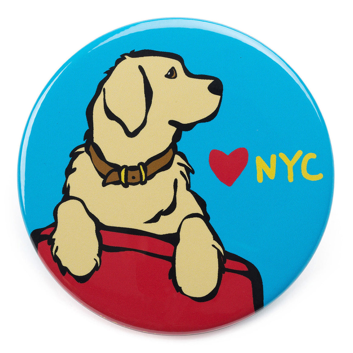 Marc Tetro NYC Golden Retriever Magnet  by Marc Tetro
