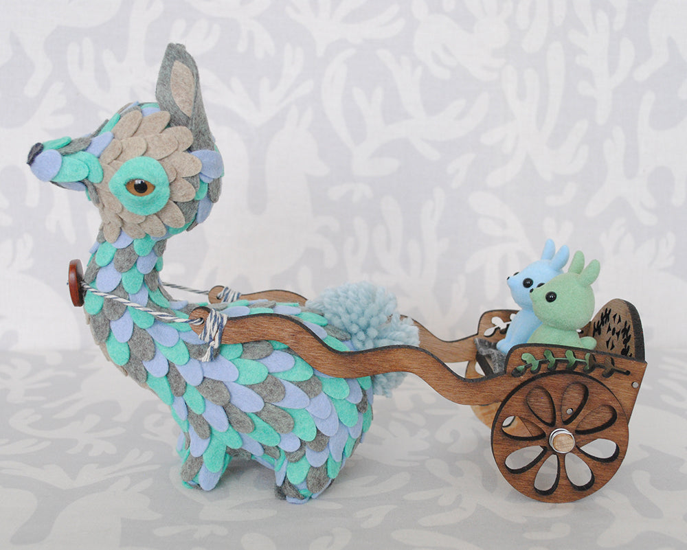 Rickshaw Runner Teal by Horrible Adorables - PIQ