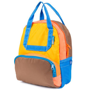 Mokuyobi Romp Mini Atlas Backpack Yellow Tan Blue Peach