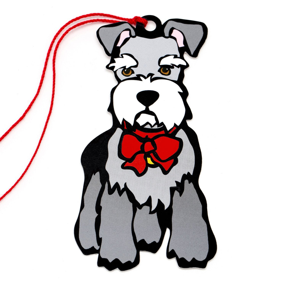 Marc Tetro Schnauzer Holiday Red Bow Gift Tags