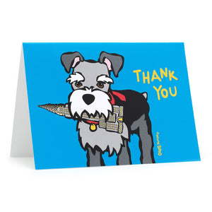 Marc Tetro Schnauzer Thank You Cards
