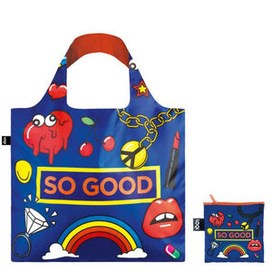 Pop So Good Tote Bag lips rainbow heart