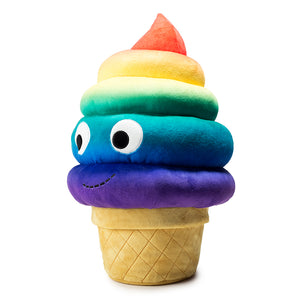 Yummy World Rainbow Soft Serve Sally Large Plush by Kidrobot - PIQ Exclusive